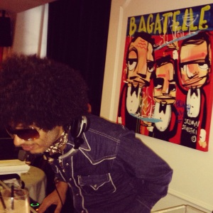 fun dj at Bagatelle's brunch party.