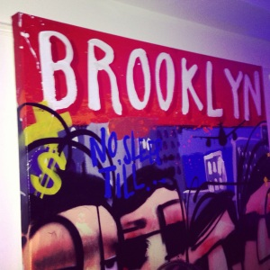 Brooklyn painting at Bagatelle