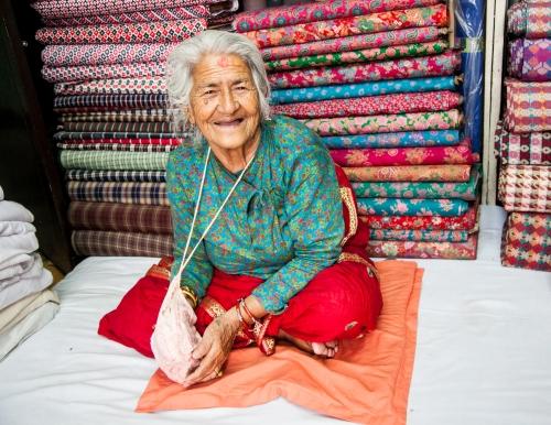 Fabric Woman, Nepal