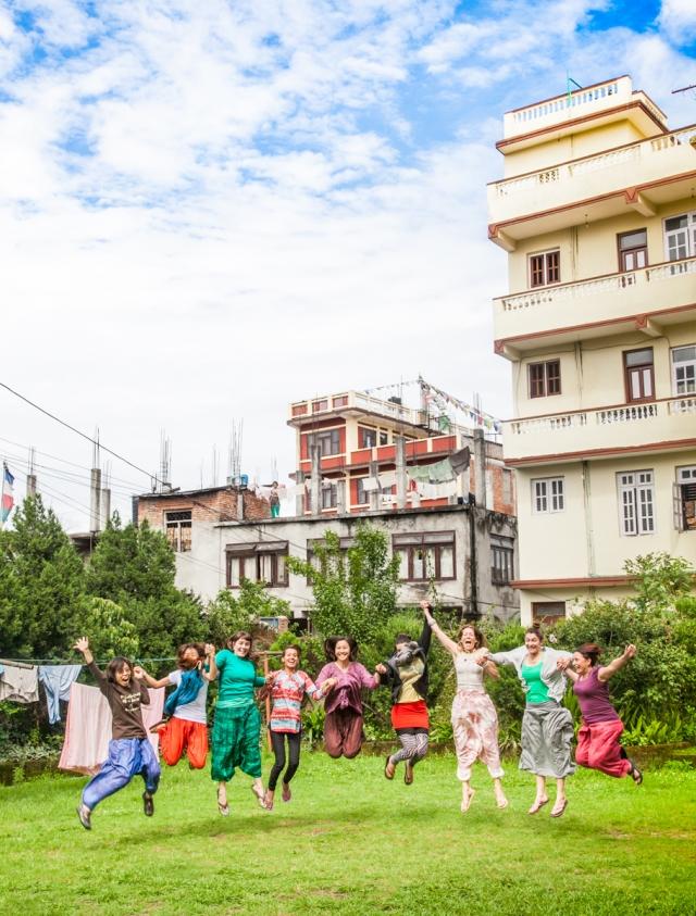 Kathmandu, Nepal: A few members of Art Therapy group