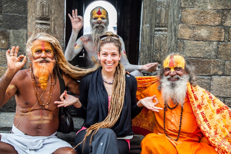 me and sadhus