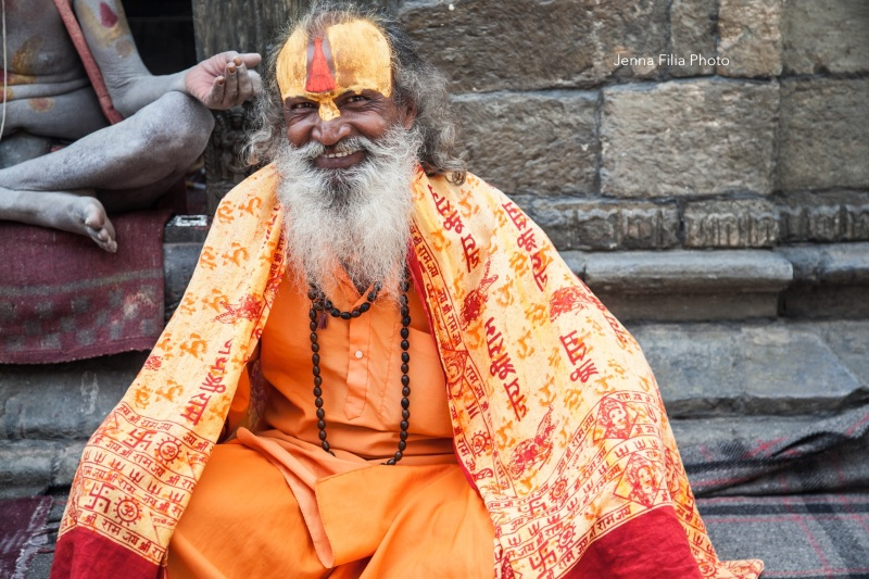 sadhus smiley sitting horiz